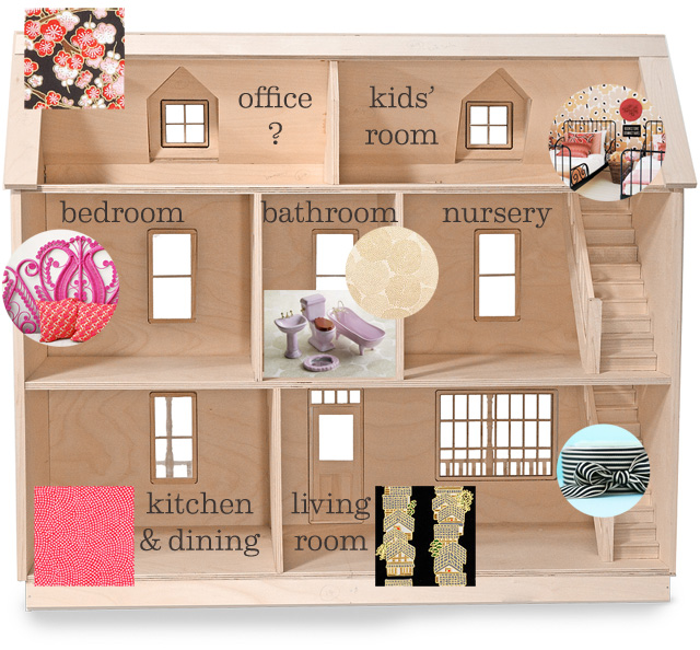 Make And Take Room In A Box Elizabeth Farm: The Dollhouse Floor Plan
