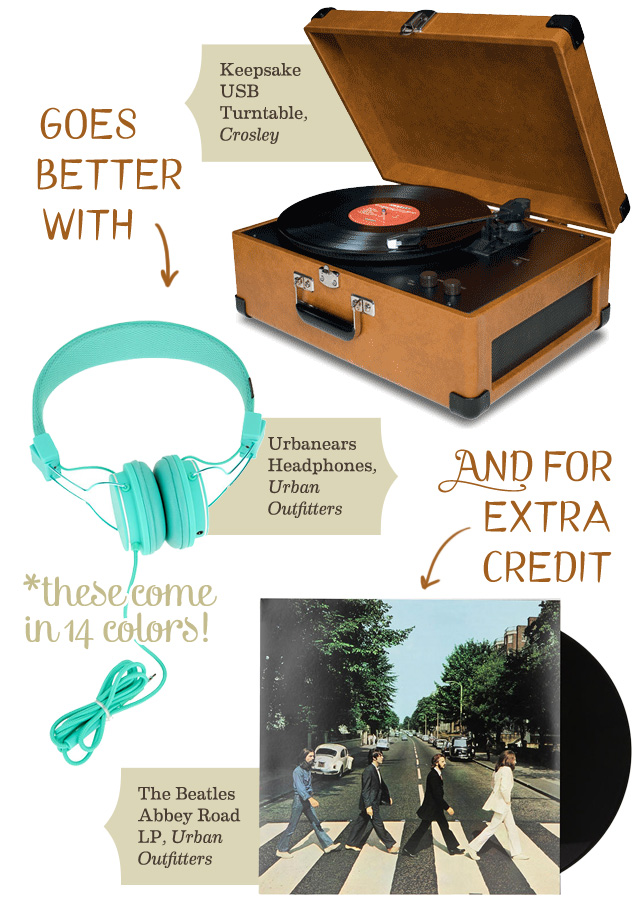 A Turntable Goes Better With...