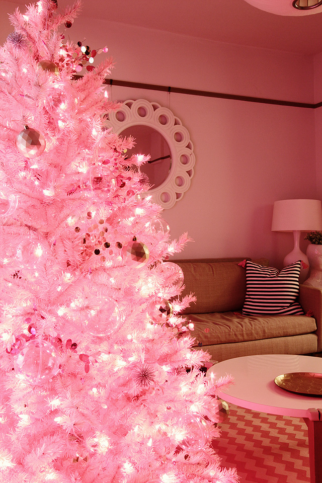 pink christmas making it lovely - Pink Christmas Trees