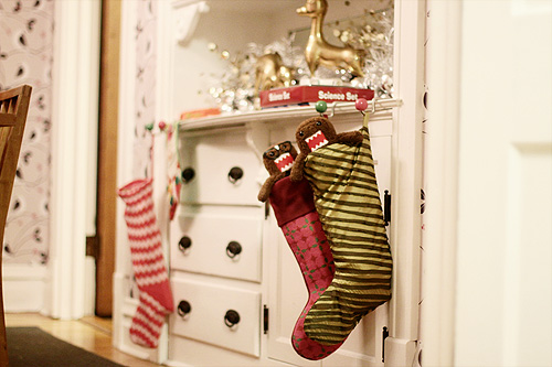 Stockings Filled by Santa