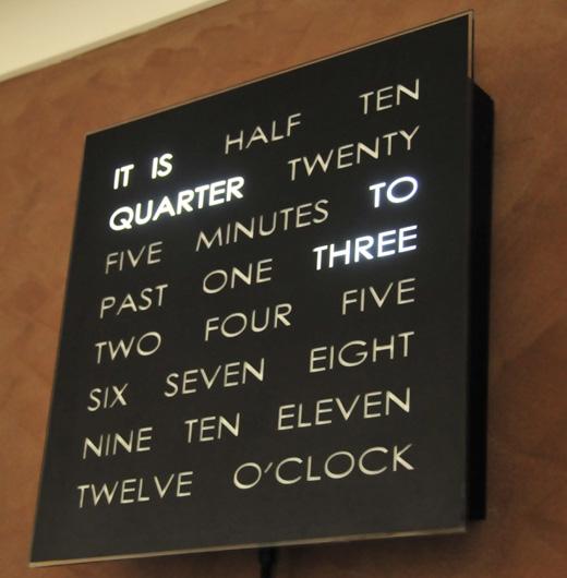Vinyl Word Clock