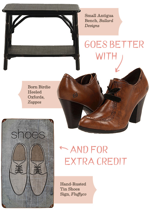 A Shoe Bench Goes Better With…
