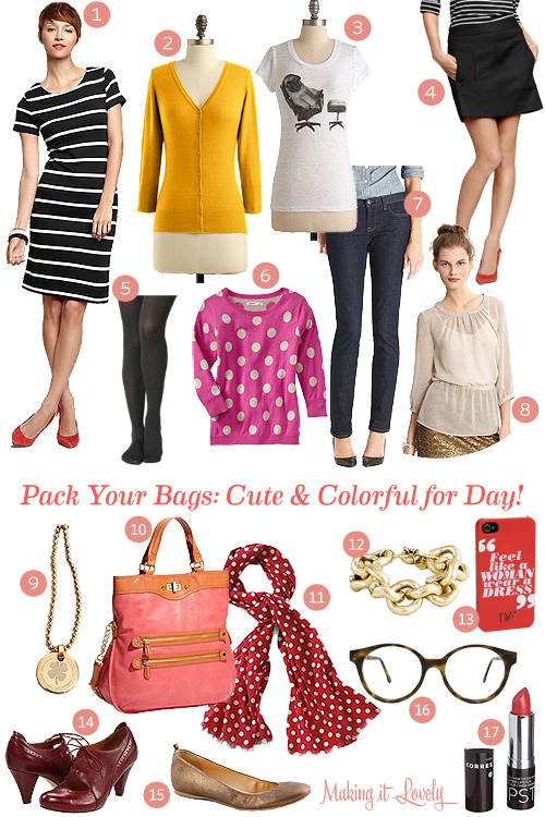 Pack Your Bags: Cute & Colorful for Day!