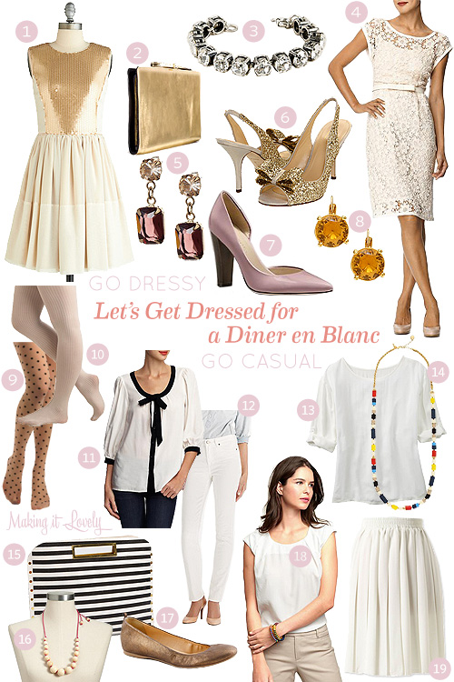 Let's Get Dressed for a Diner en Blanc