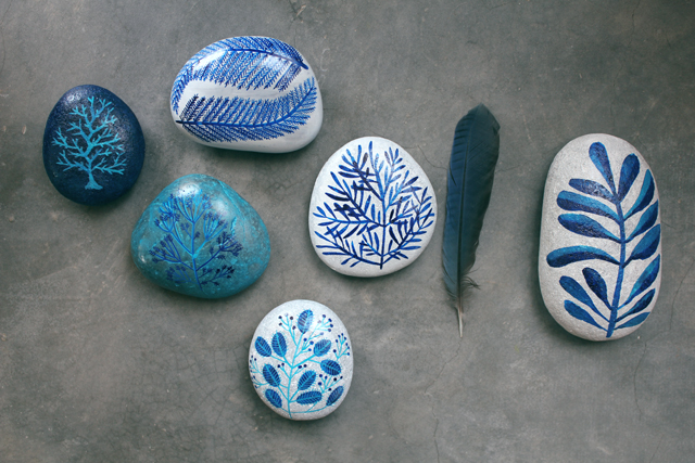 Painted Rocks from Geninne's Art Blog