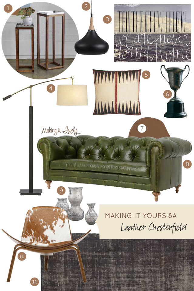 MiY 8A: Leather Chesterfield