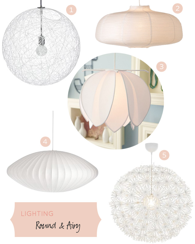 Lighting: Round and Airy