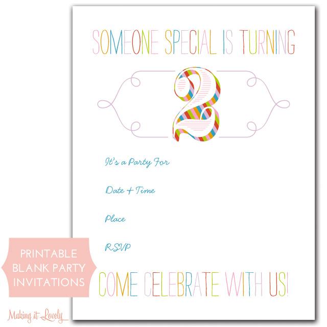 Rainbow Birthday Party Invitations Free Printable Making