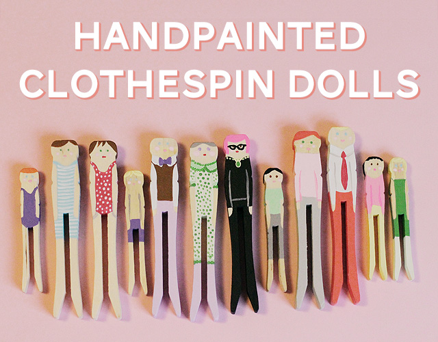 Handpainted Clothespin Dolls