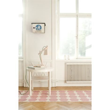 Pink and White Indoor/Outdoor Rug