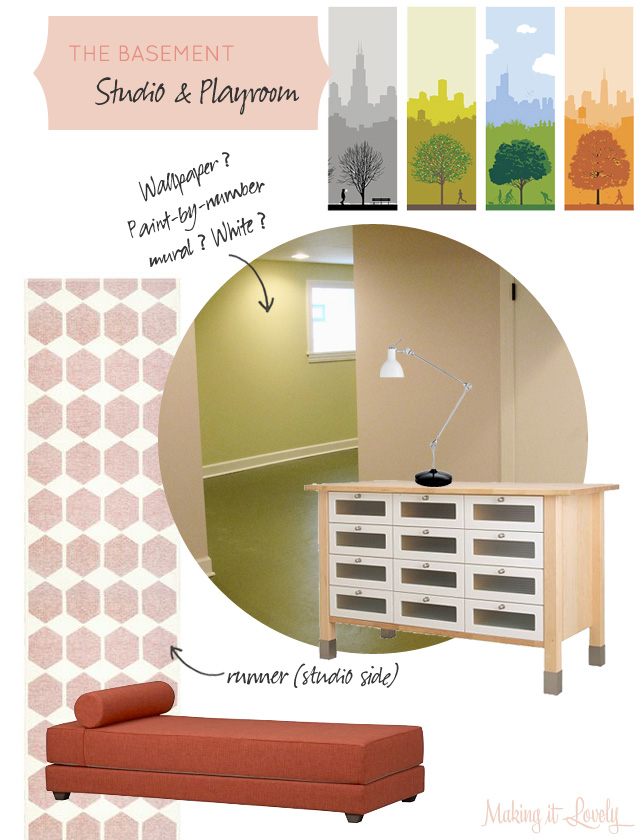 The Basement Studio and Playroom Plan