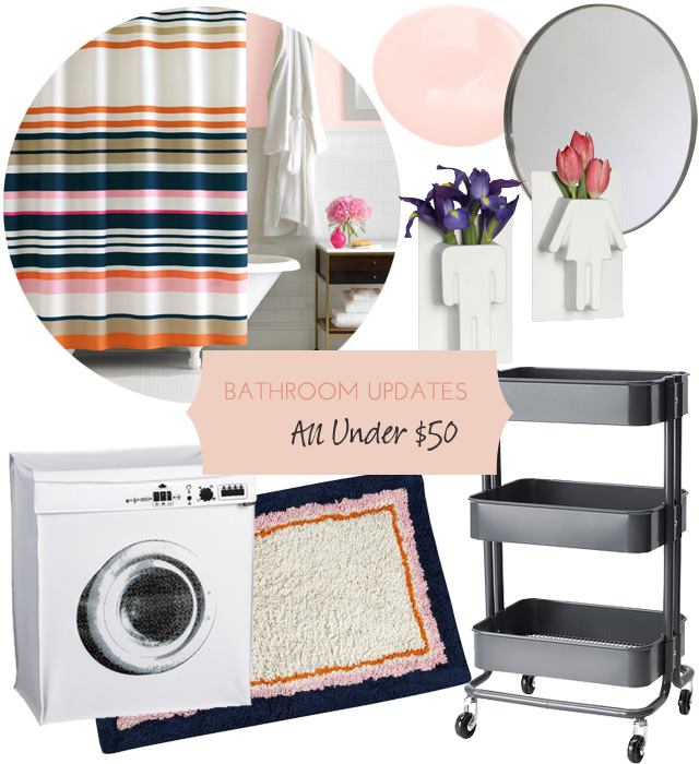 Bathroom Updates, All Under $50