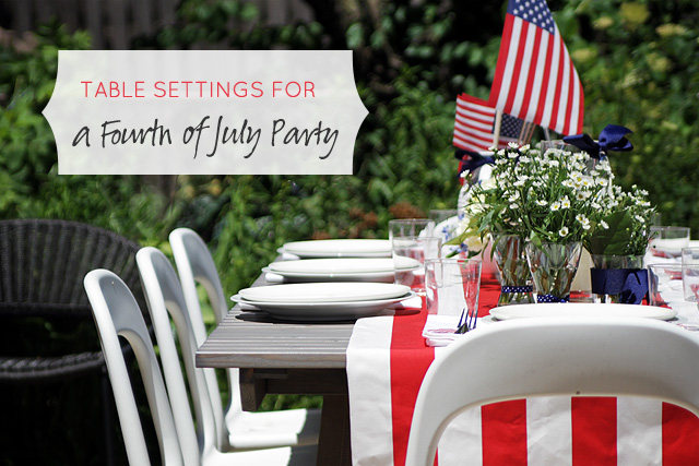 Table Settings for a Fourth of July Party