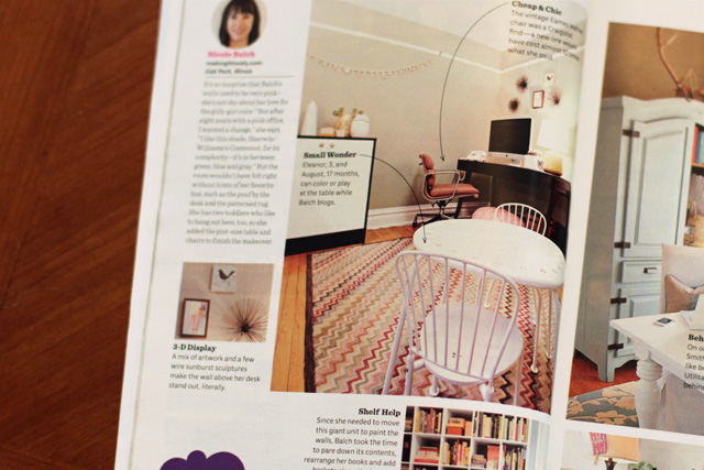 Making it Lovely's Office in Ladies' Home Journal