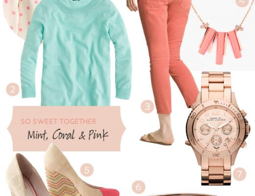 Style: Mint, Coral, and Pink on Making it Lovely