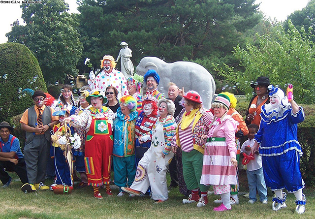 International Clown Week, Circus at Woodlawn Cemetery, Showmen's Rest