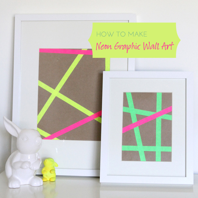 How to Make Neon Graphic Wall Art