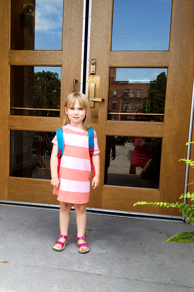 Eleanor on Her First Day of Preschool