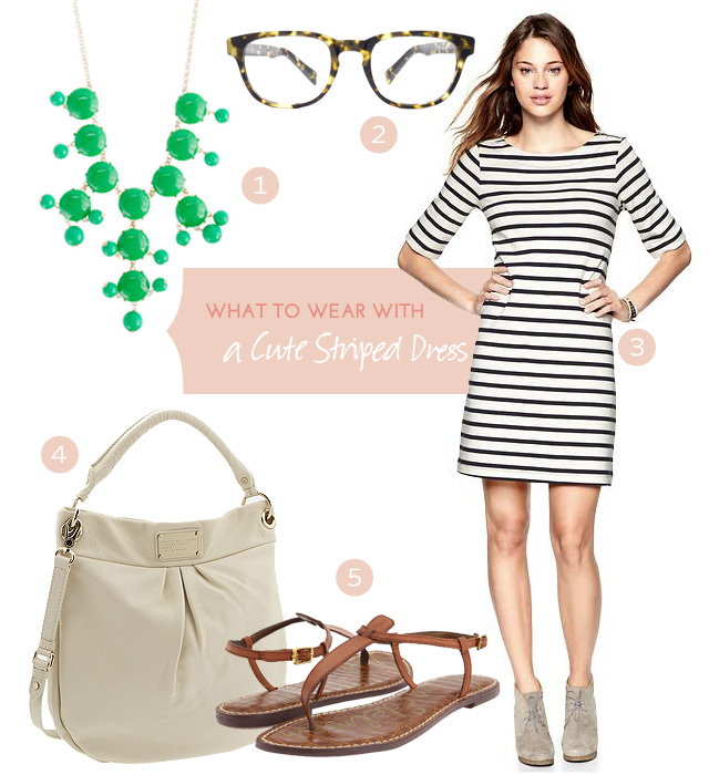 What to Wear with a Cute Striped Dress #makingitlovely