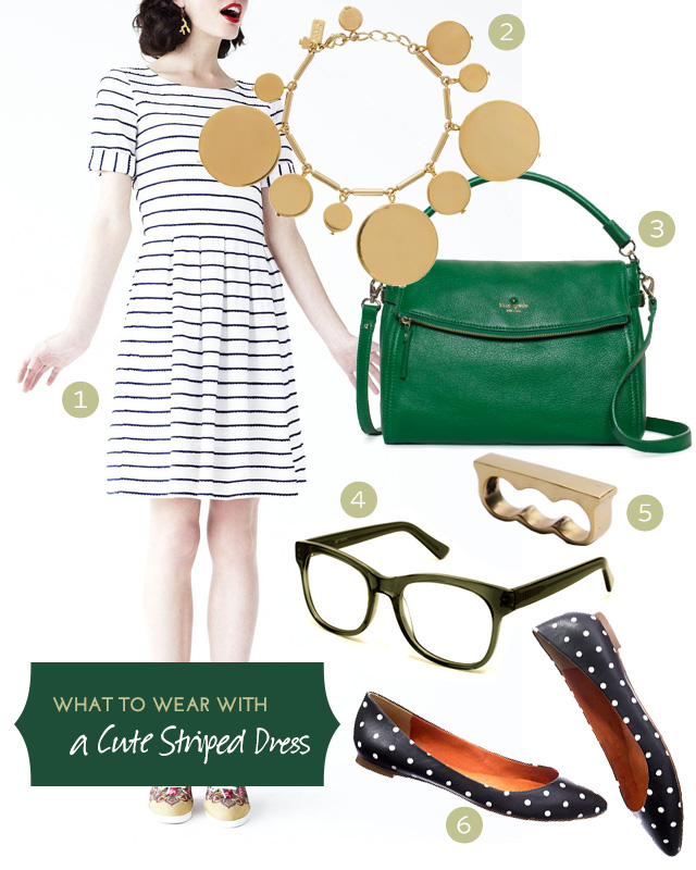 What to Wear with a Cute Striped Dress