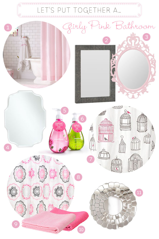 Girly Pink Bathroom