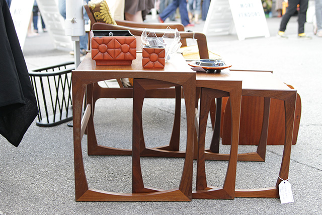Vintage Nesting Tables at the Renegade Craft Fair, Chicago