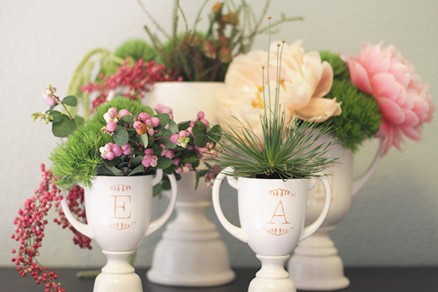 How to Make DIY Monogrammed Trophies
