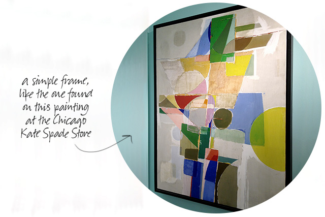 A Simply Framed Modern Painting