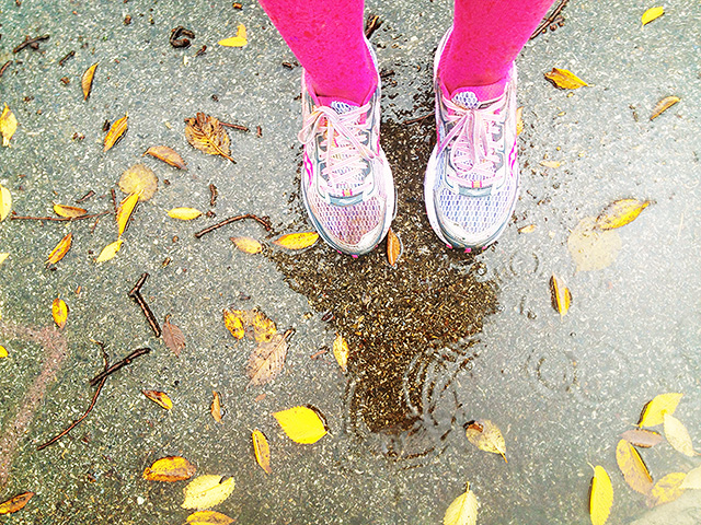 Raindrops Keep Falling on My Color-Soaked Shoes