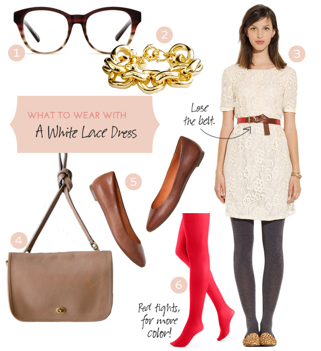 October Style: A White Lace Dress