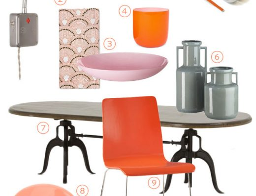 An Orange Dining Room from Making it Lovely