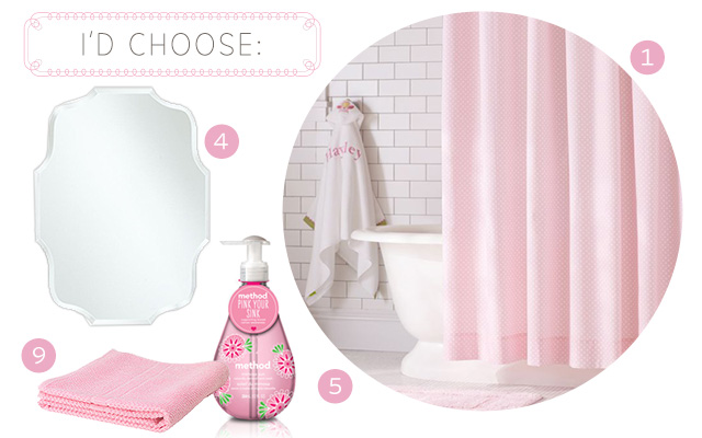 My Pink Bathroom Choices