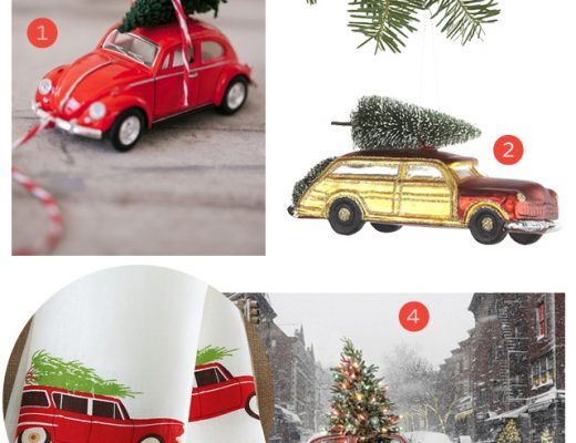 Christmas Trees on the Roofs of Cars