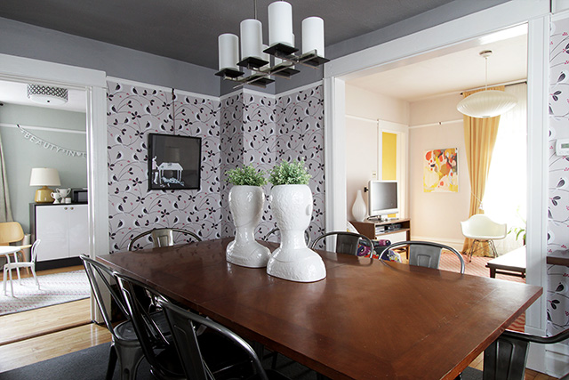 Making it Lovely's Office, Dining Room, and Living Room