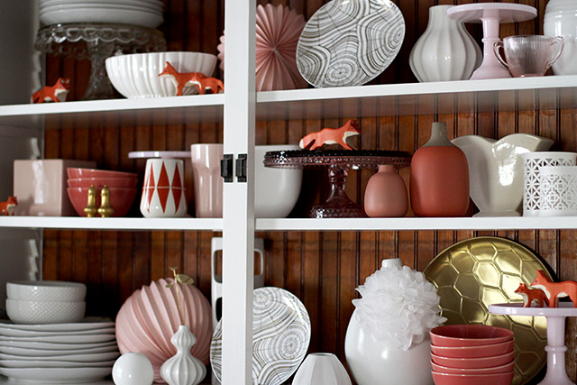 Coral, Pink, and White Ceramics