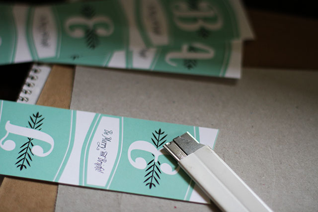 Cutting Out Gift Tags
