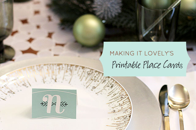 Free Printable Place Cards from Making it Lovely