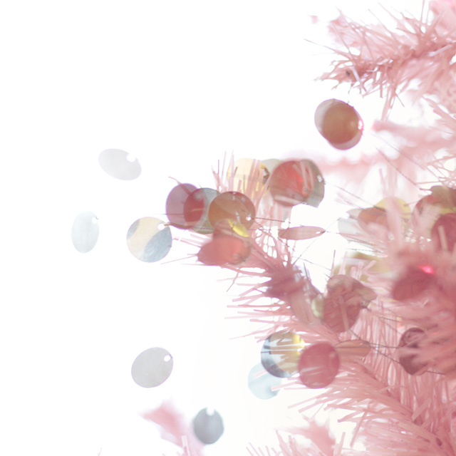Pink Christmas Tree with Pailettes