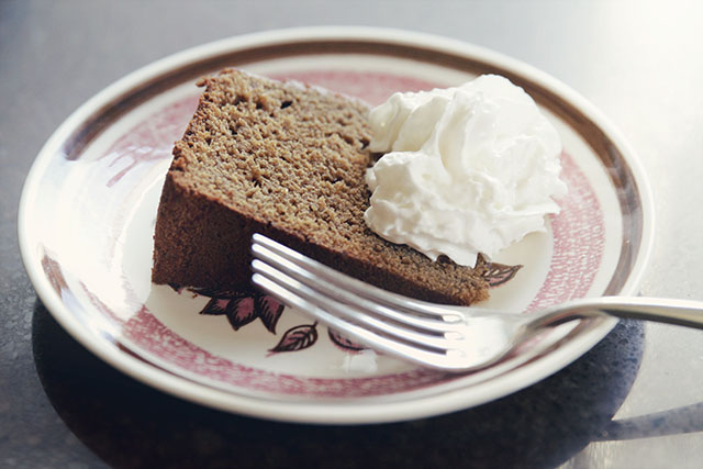 A Slice of Gingerbread Cake