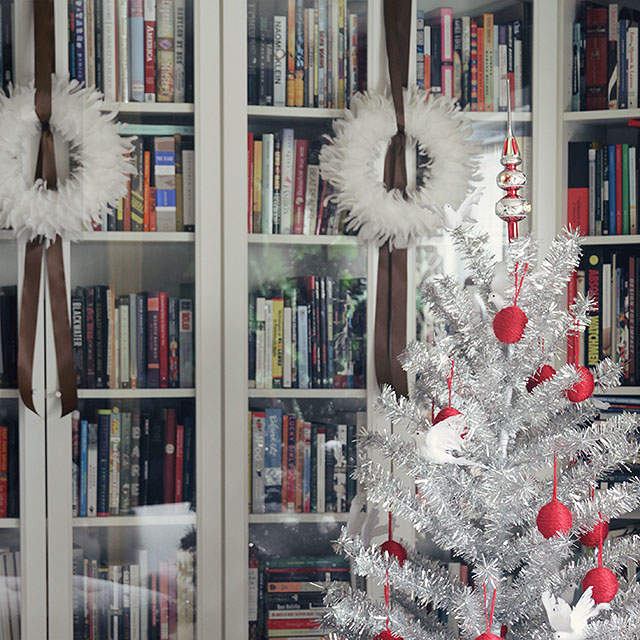 Christmas Decorations in the Library