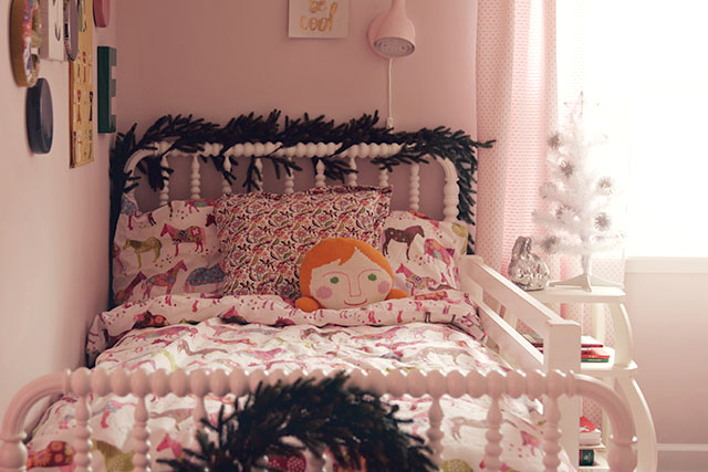 Eleanor's Bedroom, Decorated for Chrismas