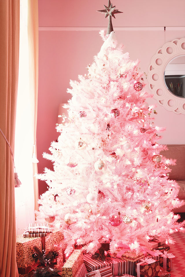 pink christmas tree - Pink Christmas Tree Decorations