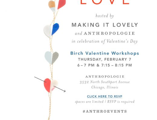 Valentine's Day Craft Night with Making it Lovely