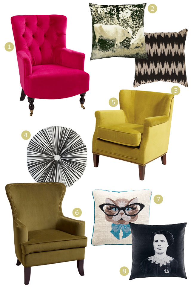 Let's Have a Seat: Affordable Velvety Kitsch