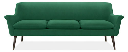 Murphy Emerald Green Sofa from Room and Board