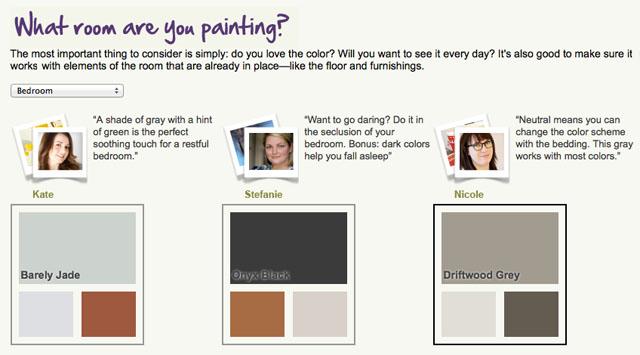 My Colortopia Bedroom Palette