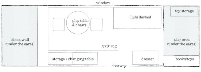 August's Room Floor Plan