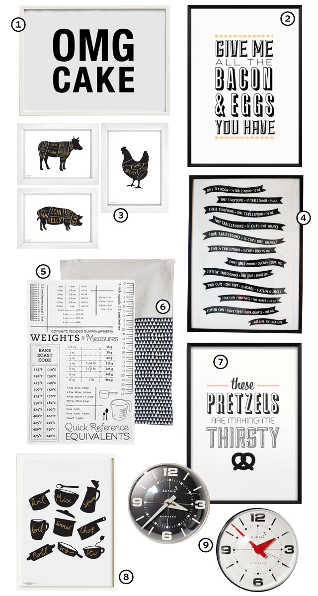 Black and White Wall Art for the Kitchen - Making it Lovely