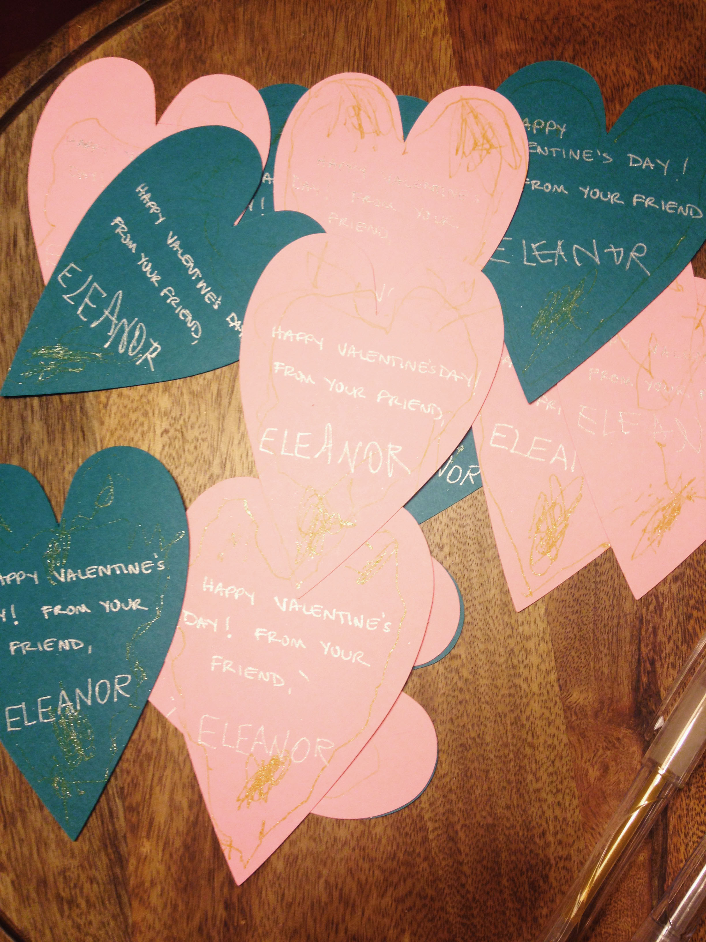 Eleanor's First Valentine's Day Cards