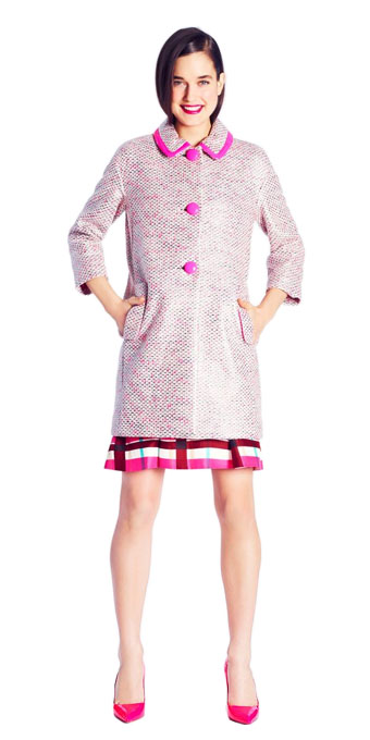 Kate Spade Pierce Tweed Coat